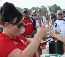 Lighting the memorial candle at the Springfield Walk to Defeat ALS
